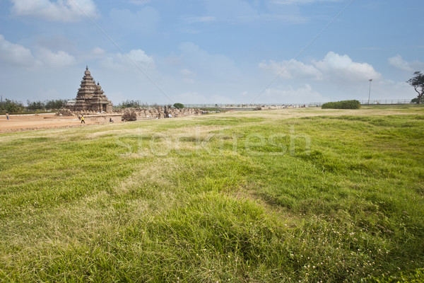 Ancient Shore Temple at Mahabalipuram, Kanchipuram District, Tamil Nadu, India Stock photo © imagedb