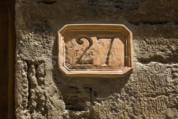 Close-up of a house number Stock photo © imagedb
