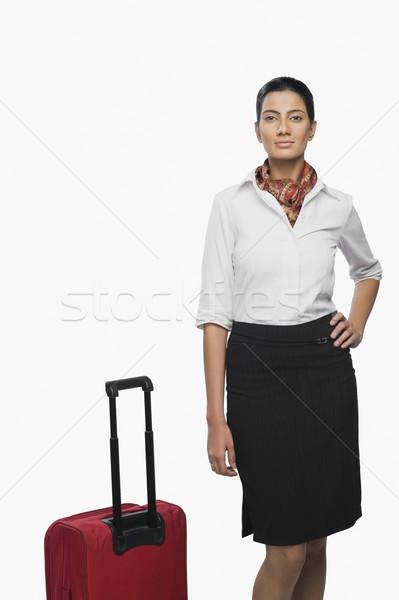 портрет воздуха хозяйка Камера женщину службе Сток-фото © imagedb