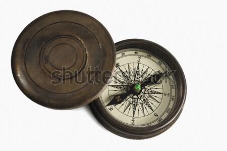 Kompas przygoda fotografii poziomy białe tło Zdjęcia stock © imagedb