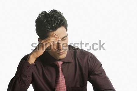 бизнесмен глядя расстраивать человека более Сток-фото © imagedb