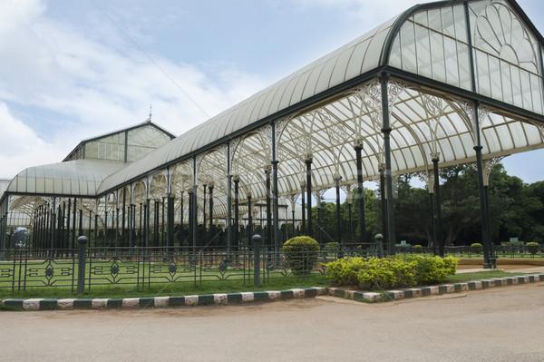 Vetro casa giardino botanico cielo architettura India Foto d'archivio © imagedb