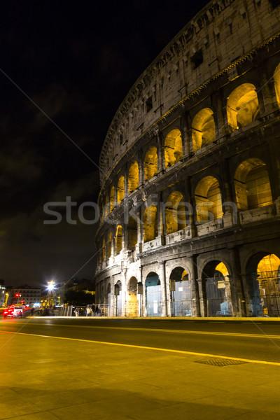 Amphitheater at night Stock photo © imagedb