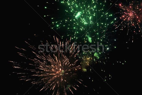 фейерверк отображения ночь свет события фотографии Сток-фото © imagedb