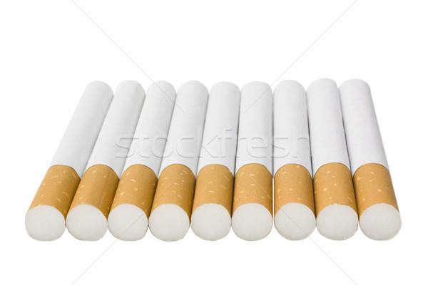 Cigarros grupo fumador isolado horizontal Foto stock © imagedb