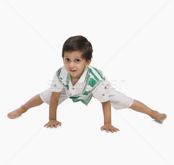 Boy playing Stock photo © imagedb