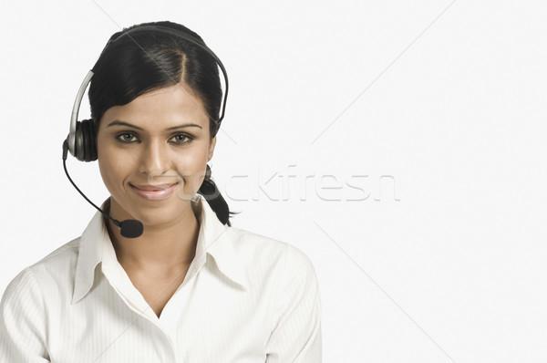 Portre kadın müşteri hizmetleri temsilci gülen iş Stok fotoğraf © imagedb