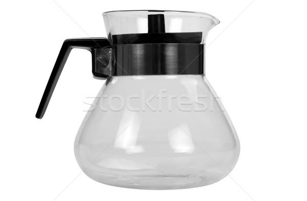 Közelkép üres kancsó fekete izolált közelkép Stock fotó © imagedb
