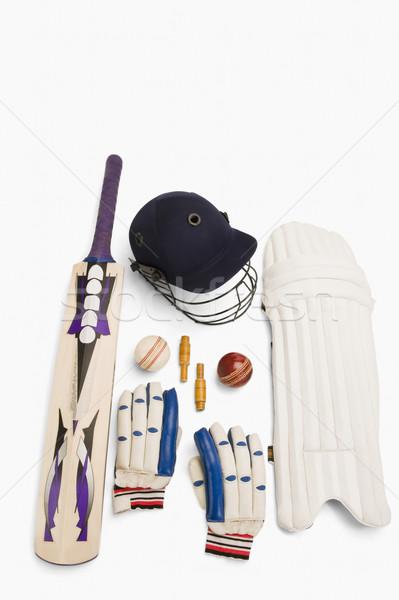 крикет оборудование спорт группа мяча Сток-фото © imagedb