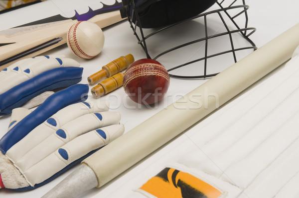 Primer plano cricket deporte grupo pelota Foto stock © imagedb