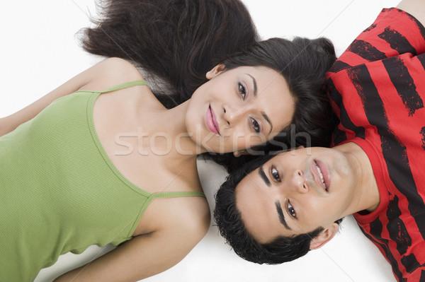 мнение пару полу улыбаясь портрет Сток-фото © imagedb