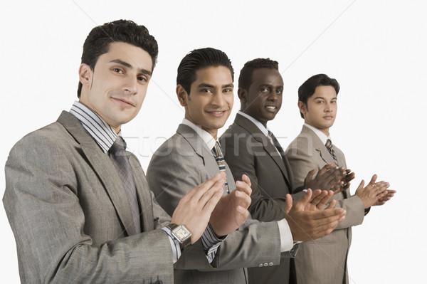 肖像 4 ビジネスマン 拍手 ビジネス 笑みを浮かべて ストックフォト © imagedb