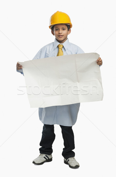 Garçon architecte plan enfant affaires Photo stock © imagedb
