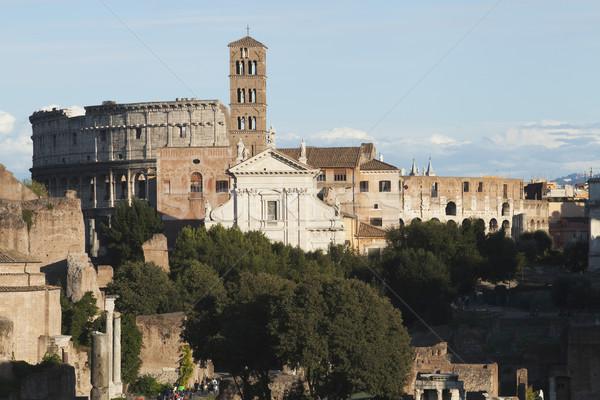 история Рома римской улице Рим солнечный свет Сток-фото © imagedb