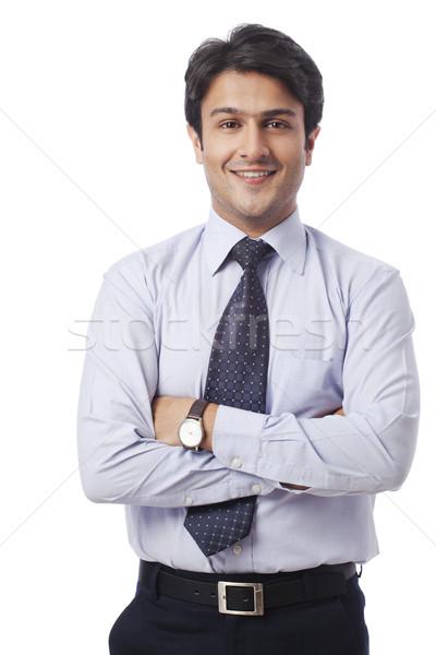 Ritratto imprenditore sorridere uomo giovani felicità Foto d'archivio © imagedb