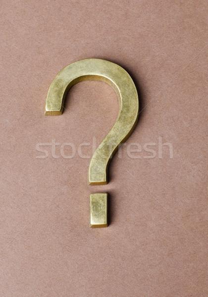 Vraagteken symbool teken studio fotografie Stockfoto © imagedb