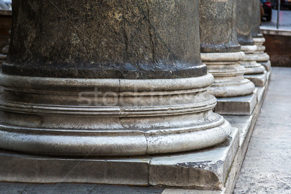 Close-up of base of columns Stock photo © imagedb