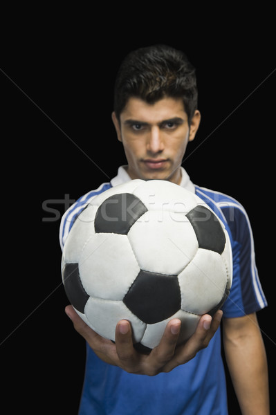 Piłkarz piłka człowiek piłka nożna fotografii Zdjęcia stock © imagedb