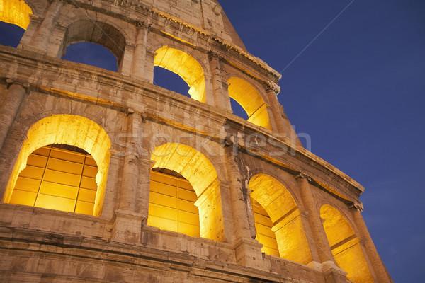 ışık gece tarih kemer roma Roma Stok fotoğraf © imagedb
