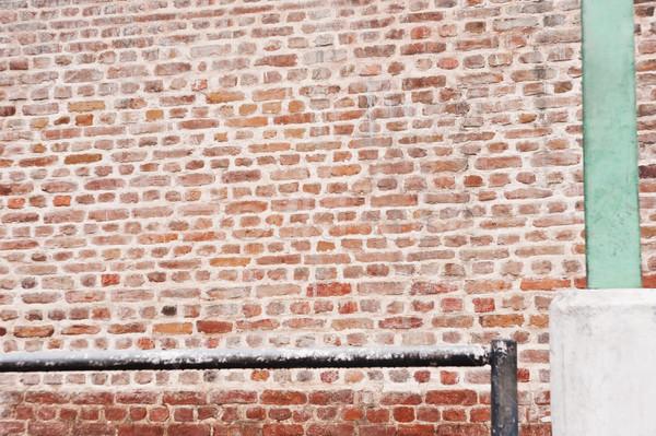 Görmek tuğla duvar Nepal duvar dizayn Stok fotoğraf © imagedb