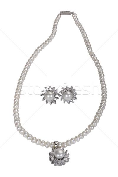 Pearl ожерелье моде ювелирные Сток-фото © imagedb