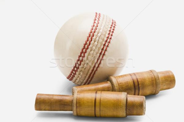 Cricket bal hout nieuwe fotografie Stockfoto © imagedb