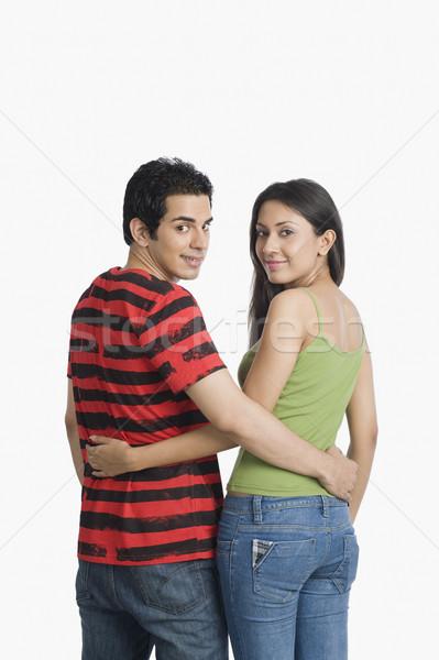 Portret para stałego ramię około uśmiechnięty Zdjęcia stock © imagedb
