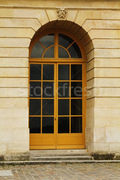 Tür Gebäude Paris Frankreich Wand Architektur Stock foto © imagedb
