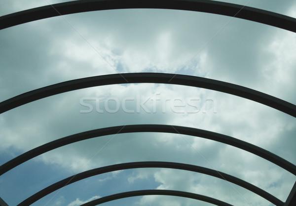 Bulutlar havaalanı koridor mantar cumhuriyet İrlanda Stok fotoğraf © imagedb