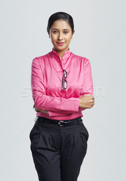 Portrait femme d'affaires souriant affaires femme Photo stock © imagedb