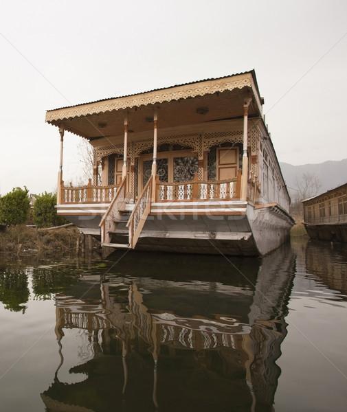 Houseboat in a lake, Dal Lake, Srinagar, Jammu And Kashmir, Indi Stock photo © imagedb