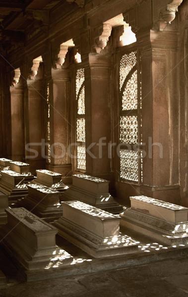 Mausoleo finestra morte storia fotografia antica Foto d'archivio © imagedb
