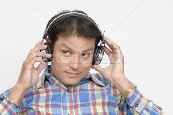 человека наушники музыку счастливым весело Сток-фото © imagedb