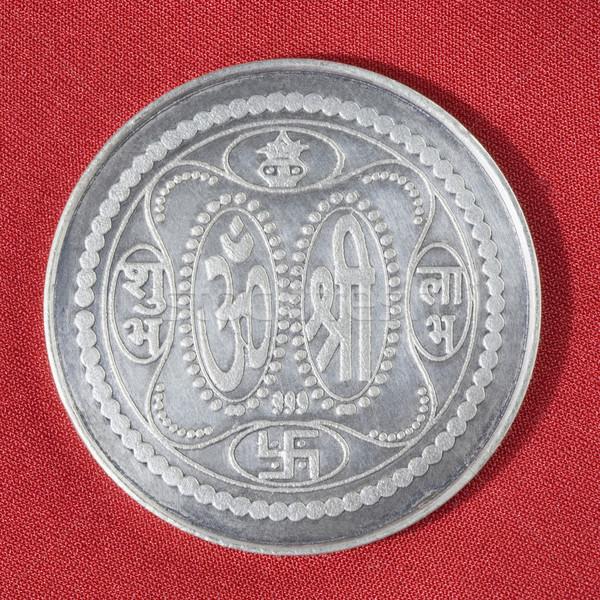 Prata moeda financiar estúdio religião Foto stock © imagedb