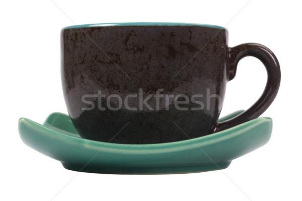 блюдце пластина белом фоне крупным планом Сток-фото © imagedb