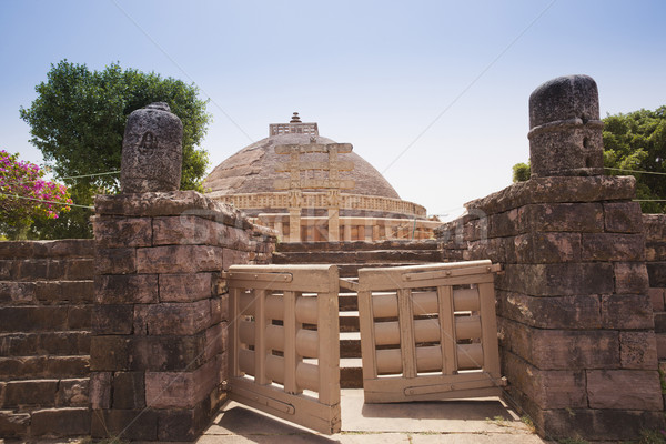 Great Stupa built by Ashoka the Great at Sanchi, Madhya Pradesh, Stock photo © imagedb