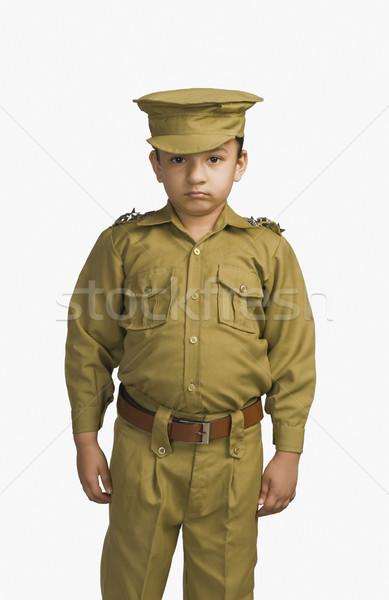 Kız polis memuru çocuk polis portre elbise Stok fotoğraf © imagedb
