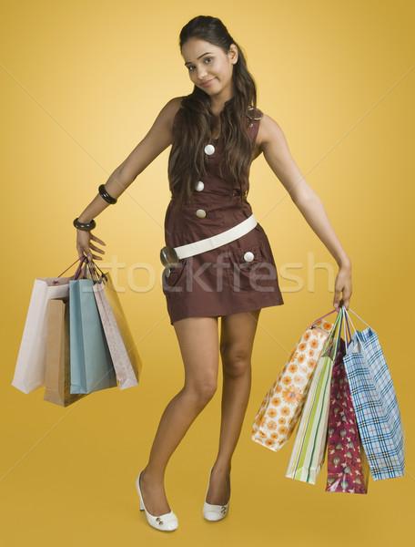 женщину молодые улыбаясь клиентов Сток-фото © imagedb
