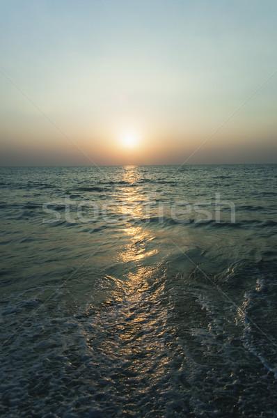 Naplemente tenger Goa India nyár fotózás Stock fotó © imagedb
