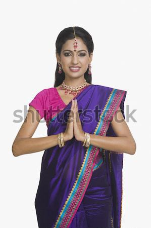 Portrait indian femme souriante femme heureux Photo stock © imagedb