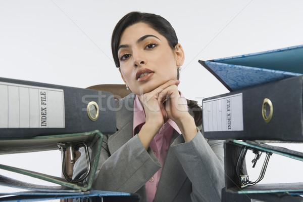 Halka iş oturma ciddi sorunları Stok fotoğraf © imagedb