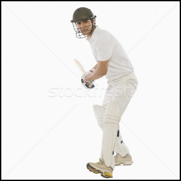 Krykieta wysoki powrót Wyciąg człowiek sportu Zdjęcia stock © imagedb
