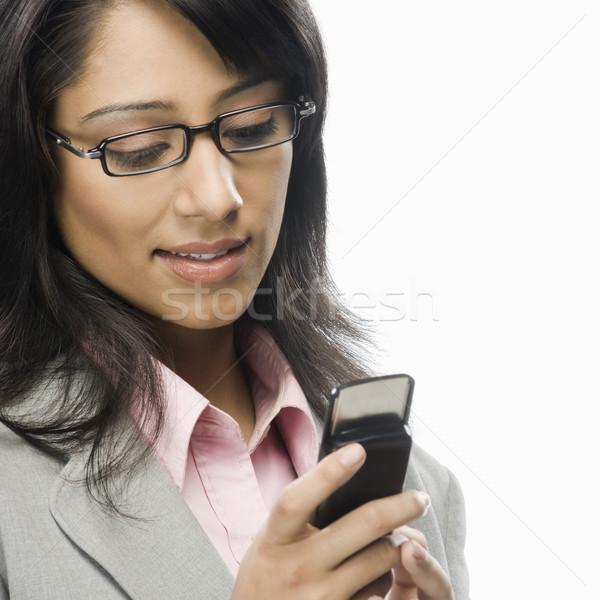 Zakenvrouw vrouw schoonheid lezing corporate Stockfoto © imagedb