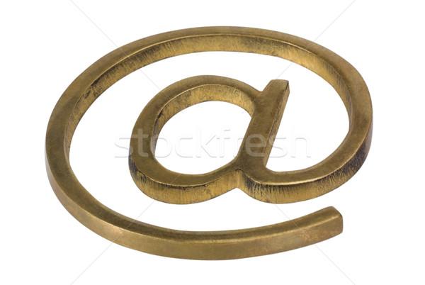 символ металл веб связи информации Сток-фото © imagedb