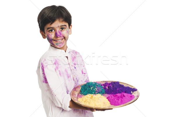 Garçon couleurs plaque amusement couleur Photo stock © imagedb