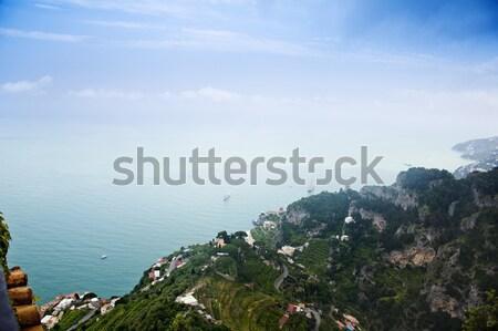 Mer vue villa eau montagne nuage Photo stock © imagedb