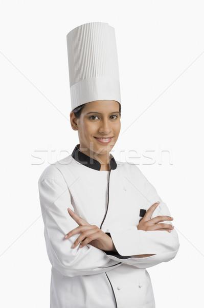портрет женщины повар улыбаясь Кука профессиональных Сток-фото © imagedb