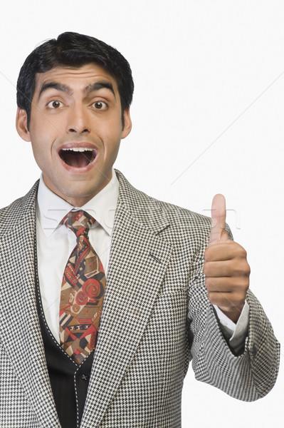Empresario negocios retrato sonriendo Foto stock © imagedb