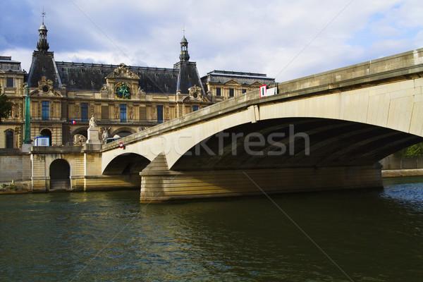 ív híd folyó palota Luxemburg Párizs Stock fotó © imagedb
