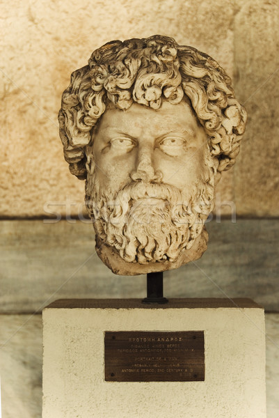 Büste Museum alten Athen Griechenland Wand Stock foto © imagedb